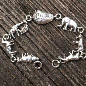 Vintage Sterling Noah's Arc Bracelet